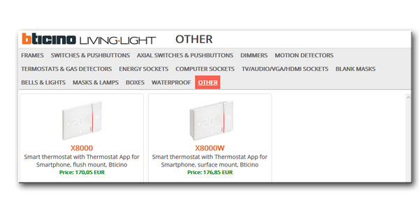 thermostat and perfectSocket configurator