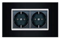 socket in black frame aling experience